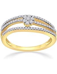 Malabar Gold And Diamonds 18KT Yellow Gold And Diamond Ring For Women - B07B5BD1CD
