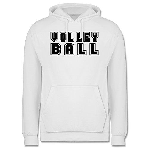 Volleyball - Volleyball Schriftzug - Männer Premium Kapuzenpullover / Hoodie Weiß