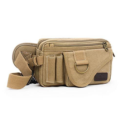 SHANGPIN Canvas Wallet Pocket Abriebfeste wasserdichte Casual Outdoor Wallet Registrierkasse,Brass
