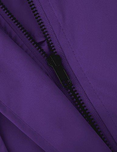 Vessos Damen Regenmantel Regenjacke Regenparka in versch. Farben Violett