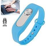 Bracelet enregistreur vocal boîtier amovible 4Go mémoire flash Bleu