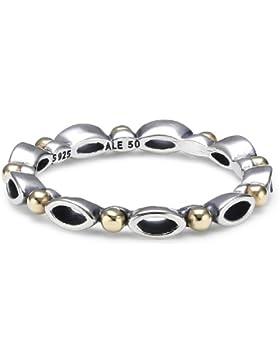 Pandora Damen-Ring 925 Silber teilvergoldet 190873