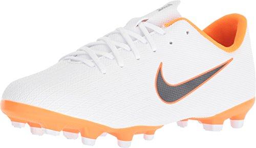 Nike Unisex-Kinder Mercurial Vapor XII Academy MG Junior Fußballschuhe, Weiß (White/Chrome-Total O 107), 38.5 EU (Vapor Mercurial Stollen Nike)
