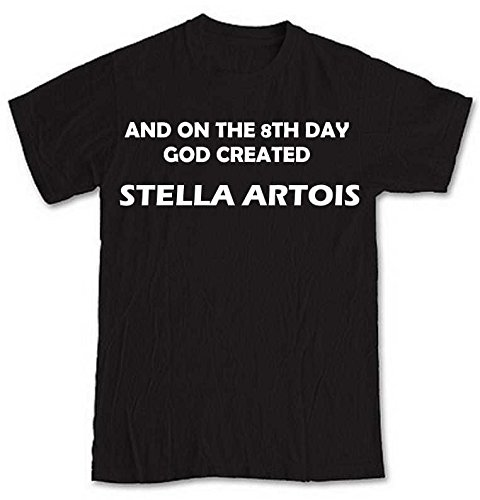 and-on-the-8th-day-god-created-stella-artois-black-short-sleeve-t-shirt-from-our-unique-t-shirt-rang