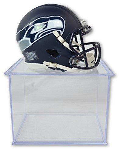 Riddell Offizielles National Football League Fan Shop Authentische NFL Mini Speed Helm und Display Schutzhülle Bündel. Tolles Sports Fan Collectible-Büro, Zuhause Oder Man Cave, Seattle Seahawks