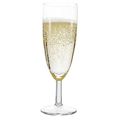 Van Well 60er Set Sektglas Royalty Standard, 18 cl, Ø 50 mm, H 160 mm, Sektflöte, Kelchglas, Champagner-u. Prosecco-Glas, Partyglas, glasklar, Gastronomie