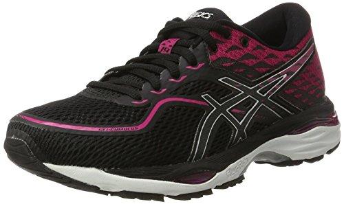 Asics T7B8N9093, Zapatillas de Running para Mujer, Negro (Black / Silver / Pink Peacock), 39.5 EU