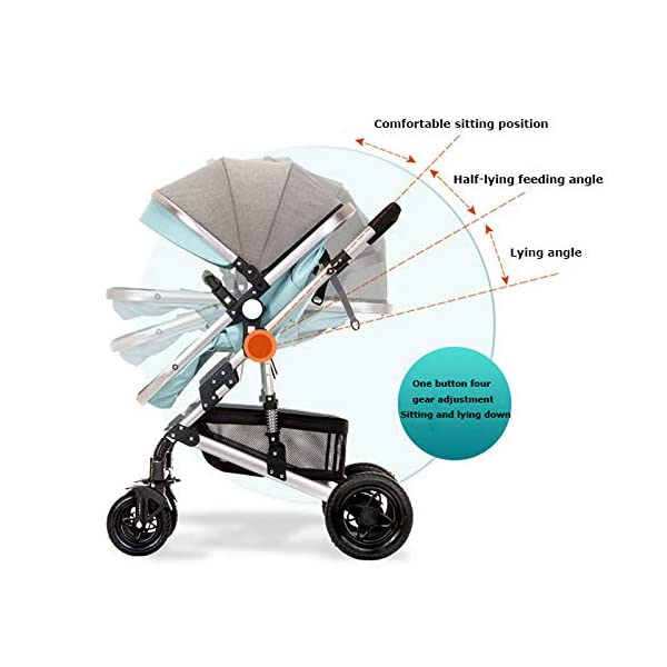 GHH Double Strollers Baby Pram Tandem Buggy Newborn Pushchair Ultra Light Folding Child Shock Absorber Trolley Can Sit Half Lying 0-3 Years Old,60kg Maximum,UpgradedversionBlue GHH 1. {Four seasons can be} - Three-sided mesh design, the awning can be adjusted to multiple angles, easy to cope with the sun 2. {75CM high landscape} - Baby can stay away from the ground heat, car exhaust to ensure your baby's health 3. {Multiple shock absorption design} - Body frame spring shockproof, rear wheel, two wheel brakes, wheel spring shockproof, baby safety 2