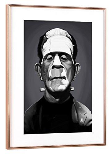 artboxONE Poster mit Rahmen Kupfer 30x20 cm Frankenstein von Rob Snow - gerahmtes Poster -
