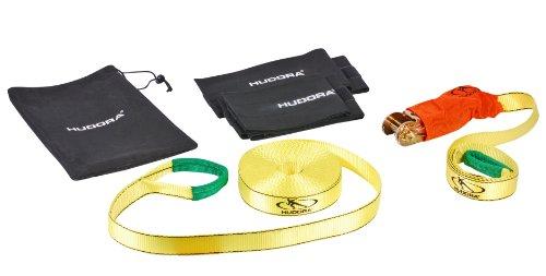 Preisvergleich Produktbild HUDORA Slackline Set mit Baumschutz - Balancierseil - 76656