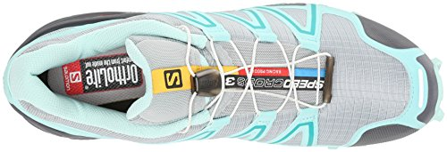 Salomon Speedcross 3 W, Scarpe sportive, Donna Grigio (Grau (Light Onix/Topaz Blue/Dark Cloud))