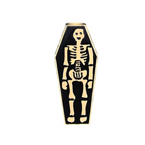 Republe Tombstone Coffin Geist Punk-Art-Tropfen Öl Broschen Badge Frauen-Mädchen-Kinder Kleidung Tasche Breastpin ()