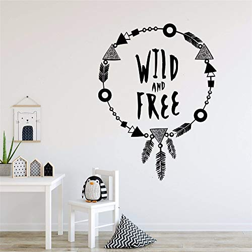 Wandaufkleber Für Kinder Wild und Kostenlos Angebot Wandtattoos Motivierende Worte Wandbild Entzückende Boho Halskette Stil Aufkleber 57 * 75 cm