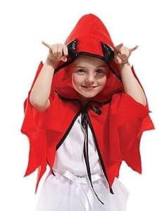 ChristinaC- Little Devil bambini mantello rosso costume di Natale (4-6 anni)