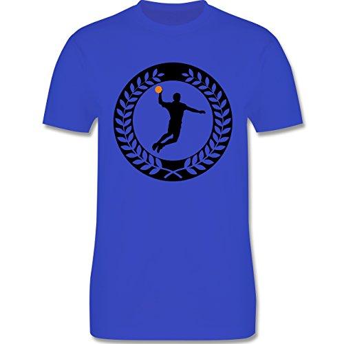 Handball - Handball Sichel Kranz - Herren Premium T-Shirt Royalblau