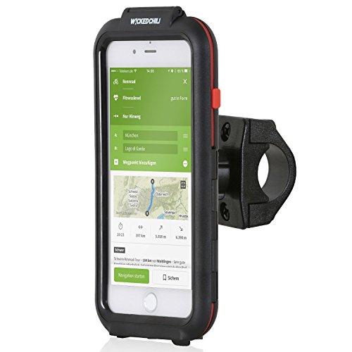 Wicked Chili Tour Case für Apple iPhone 8 Plus / 7 Plus / 6S Plus / 6 Plus - Outdoor Fahrrad Halterung Bike Navigation mit Apple Touch ID Funktion (IPx5, Ladekabelanschluss, Kopfhörerbuchse) schwarz, für iPhone 8+ / 7+ (5,5 Zoll) Iphone 6 Fahrrad Zubehör