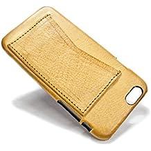 """Nicola Meyer – iPhone 6S e 6 4.7"""" custodia a guscio in cuoio con 2 porta carte di credito orizzontali colore NATURAL"""