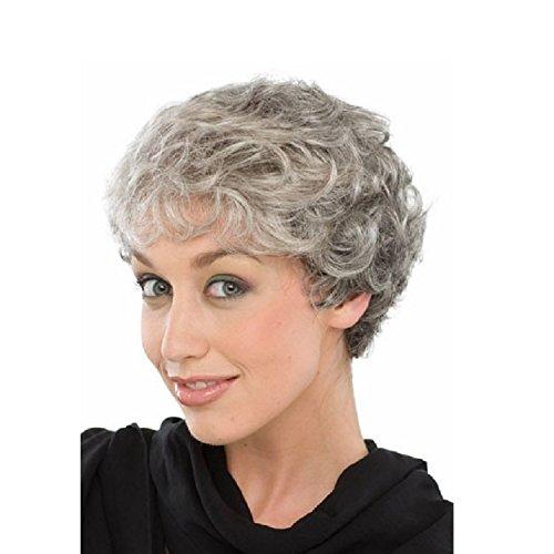 Liap Perruque pour femme en argent gris et argent