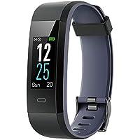 Willful Fitness Armband mit Pulsuhr,Wasserdicht IP68 Fitness Uhr Smartwatch Farbbildschirm Fitness Tracker Pulsmesser Schrittzähler Sportuhr für Damen Herren Anruf SMS Beachten für iOS Android Handy