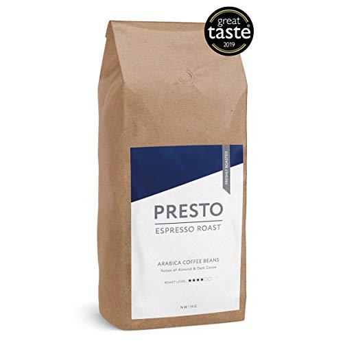 KaffeeBohnen - Espresso Bohnen - 100% Arabica Kaffee ganze bohnen - french press - 1kg Starke Kaffeebohnen - (1KG ) - gut für Kaffeemaschine mit Mühle