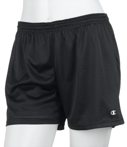 Champion Women's Athletic Classics Mesh Short, Black, Medium (Active Mesh Champion Short)