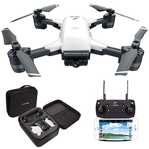 le-idea 10 GPS Drone FPV 1080P con videocamera HD grandangolare Video in Diretta, Quadricottero Altitude Hold, Facile per Principianti, Borsa per Il Trasporto