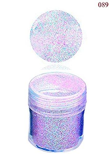 Cdet 1PC Poudre éclair à ongles Paillettes holographique Paillettes poudre ongles nail art déco pour la beauté de la femme 10ml