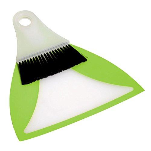 Preisvergleich Produktbild Kehrgarnitur: Überall dabei, vielseitig einsetzbar doch sehr platzsparend 28x24cm grün-weiß:: mehr erfahren >