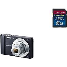 "Sony DSC-W810 - Cámara compacta de 20.1 Mp (pantalla de 2.7"", zoom óptico 6x, estabilizador digital), negro + Transcend TS16GSDU1 - Tarjeta de memoria SDHC de 16 GB"