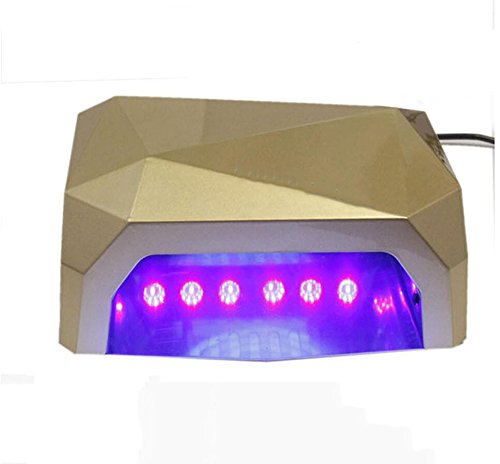 GAO® Nail light therapy machine uv36w lámpara de inducción inteligente de alta potencia con led light phototherapy diamond gel,Champagne color