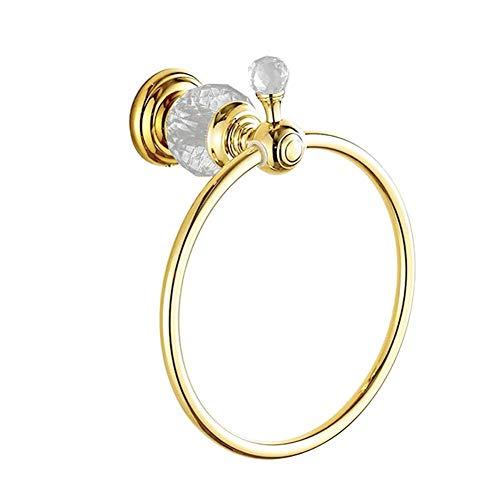 Handtuch-Ring-Halter, Bath Barrack Ring Bronze Hang Hand, Badezimmer-Zubehör-Kompakt-Design ist perfekt für die Installation in Einem Closet oder in Tight Spaces 6,7 Zoll (Gold),Gold -