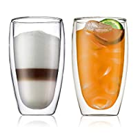 Bodum Pavina Double Wall Glass, 0.45 litre, 2 Pieces - BD-4560-10