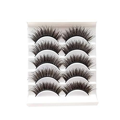 Gysad ciglia finte 5pezzi fatti a mano magnetico da donna in finto visone ciglia finte lunga spesso Eye Lashes makeup extension