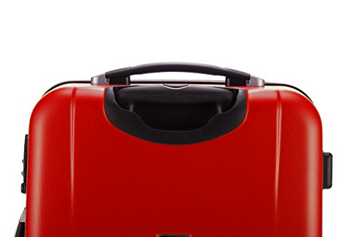 HAUPTSTADTKOFFER® 42 Liter Handgepäck · WEDDING · TSA · MATT · (in versch. Farben) + REISEADAPTER (Dunkelblau) Rot