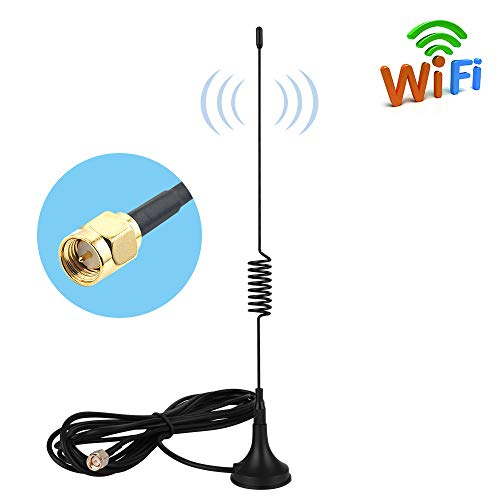 Price comparison product image Aigital SMA Antenna 10dBi 4G LTE Antenna Omni Directional Wifi Antenna 2G / 3G / GSM with Magnet Base&3M RG174 Extension Cable Wifi Booster for 4G Router Modem Mobile Hospot Huawei etc-SMA Male