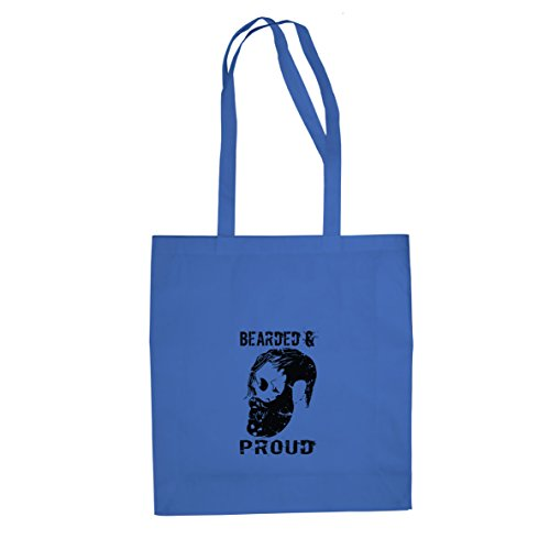 Bearded and Proud - Stofftasche / Beutel Blau