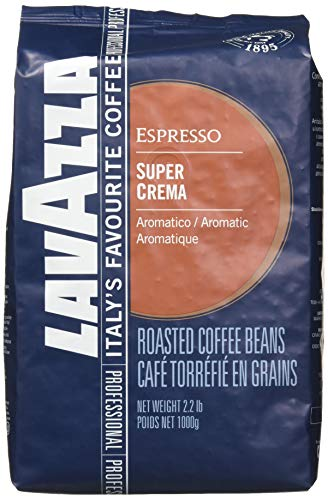 "Lavazza Italian ""Super Crema"" Espresso Whole Bean Value Pack (3 x 2.2 lb bags)"