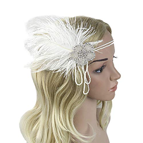 7a84873ea19 YWLINK Flapper Feder Stirnband Gatsby KostüM Accessoires MäDchen Karneval  Party Retro 1920er Jahre ZubehöR Stirnbänder Klassisch
