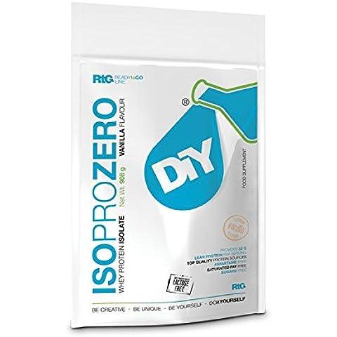 DIY Iso Pro Zero 100 Proteine Whey Isolate 908g Fragole Senza-lattosio