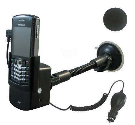 Blackberry Pearl 8100 8110 8120 Windscreen Mount Holder & Car Charger Kit