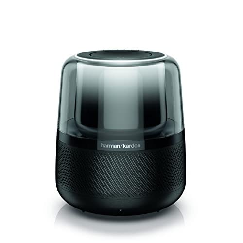 41Nl8 p%2BNiL. SS500  - Harman Kardon Allure Voice-Activated Smart Speaker with Bluetooth, with Alexa built-in, Modern Light Effects, Google…