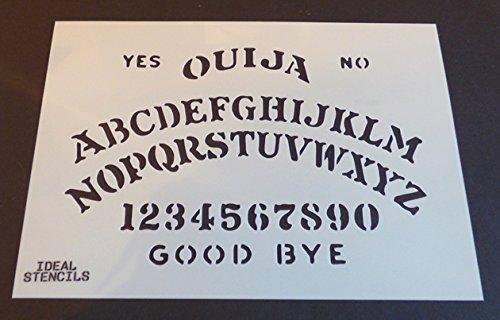 Ouija Board Schablone Halloween Dekorieren Kunst Handwerk Ouija Board Kostüm malen Schablone - semi-transparent Schablone, S/17X26CM