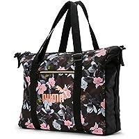 PUMA Wmn Core Seasonal Duffle Bag, Borsone Donna, Black-Floral AOP, OSFA