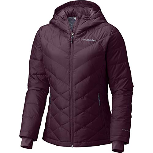 Wind Chill Heat (Columbia Women's Heavenly Hooded Jacket, Black Cherry, Large)