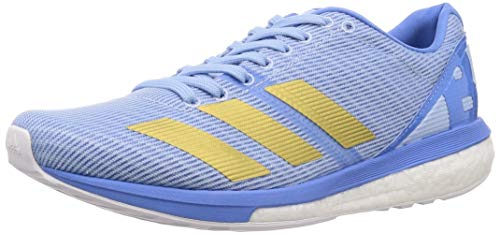 Adidas Adizero Boston 8 Women Glow Blue/Gold Metallic/Real Blue