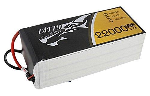 Gens ace TA-25C-22000-6S1P Polímero de Litio 2200mAh 22.2V batería Recargable - Batería/Pila Recargable (2200 mAh, Polímero de Litio, 22,2 V