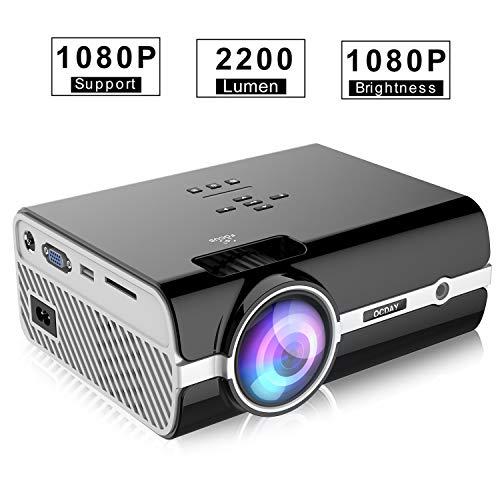 Proiettore OCDAY, 2500 Lumen Mini Portatile Videoproiettore, Supporta 1080P HD Dolby Sound...