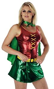 Robin womans female fancy dress costume 6-8