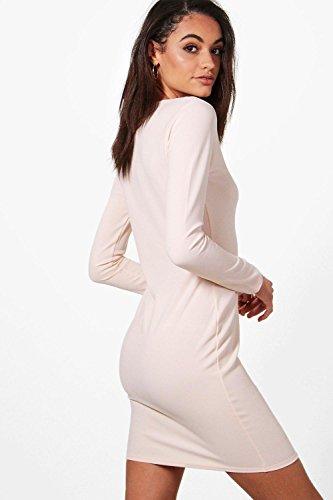 Damen Nackt Emma Kleid Mit Ziernaht Nackt
