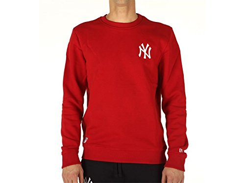 New Era, Uomo, MLB Crew Neck New York Yankees Sca, Cotone, Felpe, Rojo, XL EU